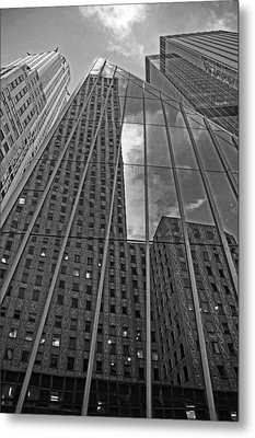 Midtown Reflections Metal Print by Mike Martin