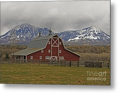 Midway Ranch Barn Metal Print
