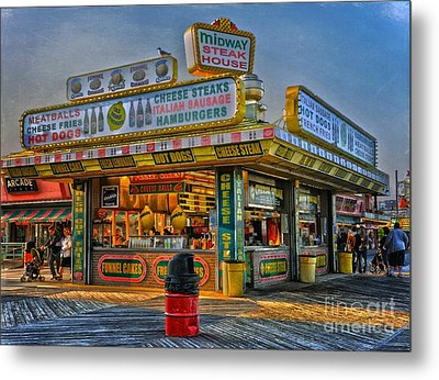 Metal Print featuring the photograph Midway Steak House by Debra Fedchin