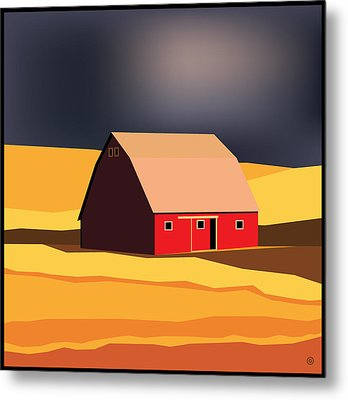 Midwest Barn Metal Print by Gary Grayson