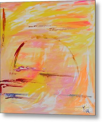 Metal Print featuring the painting Midwest Sunrise by PainterArtist FIN