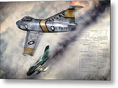 Mig Alley Metal Print by Peter Chilelli