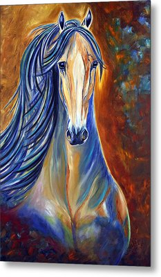 Metal Print featuring the painting Mighty Mare Horse by Jennifer Godshalk