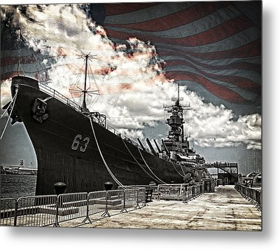 Mighty Mo U.s.s. Missouri Metal Print