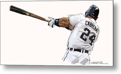 Miguel Cabrera Mash Metal Print by Chris Ross