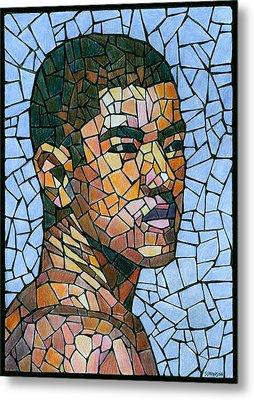 Mike In Mosaic Metal Print by Douglas Simonson