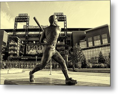 Mike Schmidt At Bat Metal Print