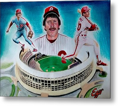 Mike Schmidt Metal Print by Ezra Strayer