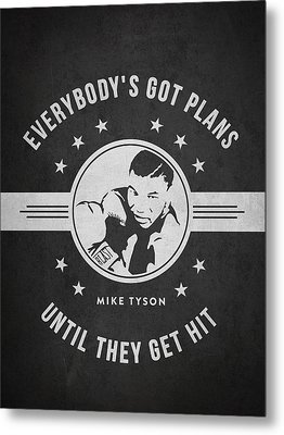 Mike Tyson - Dark Metal Print by Aged Pixel