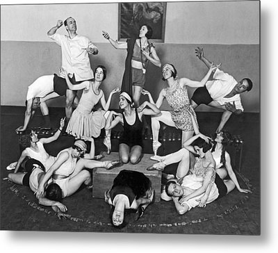 Mikhail Mordkin And Students Metal Print by Underwood Archives