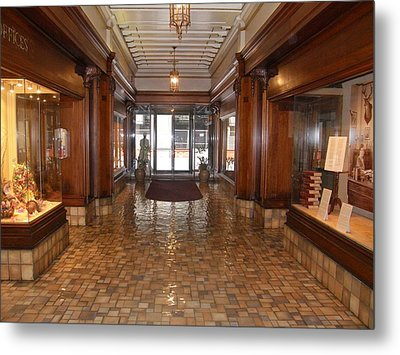 Metal Print featuring the photograph Milam Building Lobby by Antonia Citrino