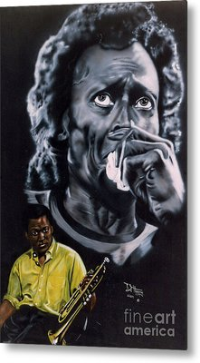 Metal Print featuring the painting More Miles Of Davis by Thomas J Herring