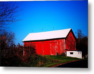 Milk House And Barn Metal Print
