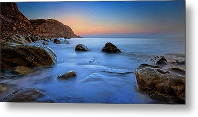 Milky Blue Metal Print by Mark Leader