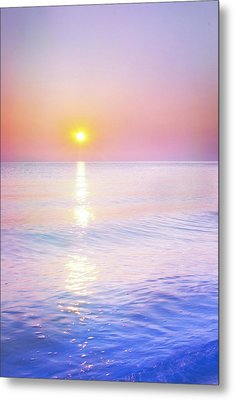 Metal Print featuring the photograph Milky Sunset by Lilia D