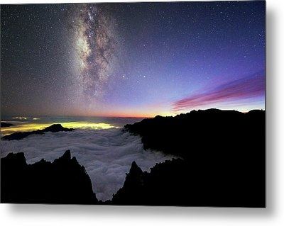 Milky Way Above La Palma Metal Print