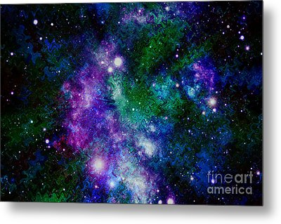 Milky Way Abstract Metal Print