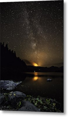 Milky Way At Crafnant Metal Print by Beverly Cash