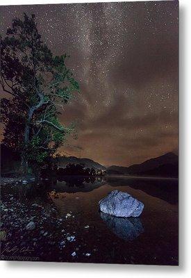 Milky Way At Gwenant Metal Print