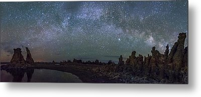 Milky Way At Mono Lake Metal Print by Cat Connor