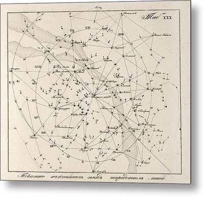 Milky Way Constellations, 1829 Metal Print by Science Photo Library