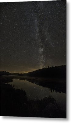 Milky Way Over Costello Creek Metal Print