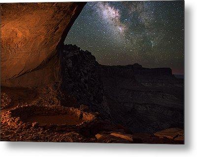 Milky Way Skies From False Kiva Metal Print by Mike Berenson
