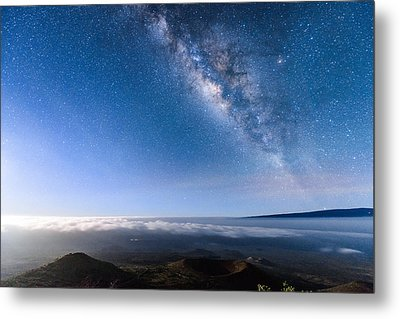 Milky Way Suspended Above Mauna Loa 2 Metal Print