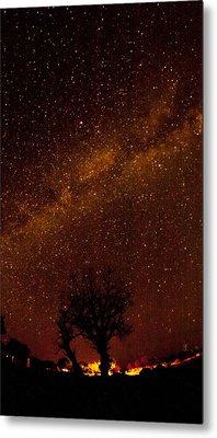 Milky Way Tree Metal Print