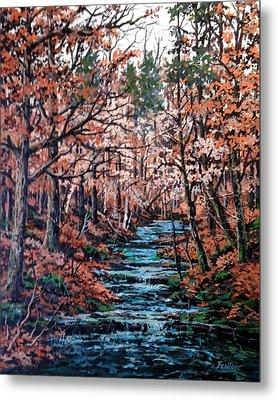 Mill Creek Metal Print by W  Scott Fenton