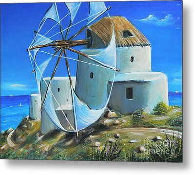 Mill On The Hill Metal Print by S G