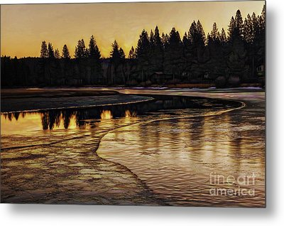 Mill Pond Freeze-d Metal Print by Nancy Marie Ricketts