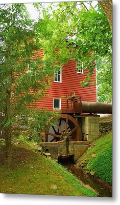 Metal Print featuring the photograph Grist Mill Water Wheel by Bob Sample