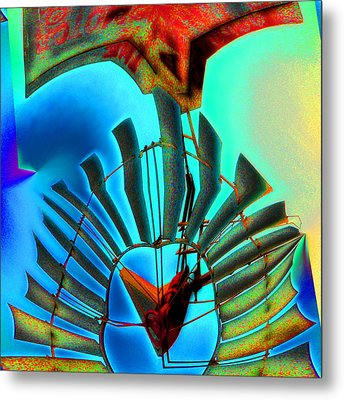 Milled Heart Metal Print by Wendy J St Christopher