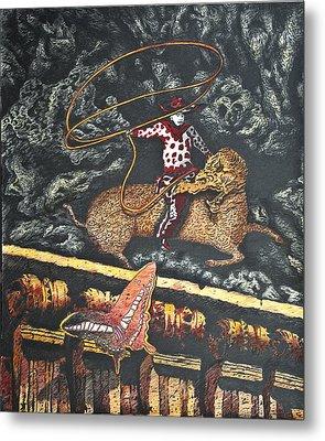 Millennium  Cowboy Metal Print by Larry Butterworth