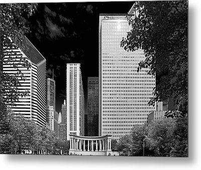 Millennium Park Monument - The Colonnade - Wrigley Square Chicago Metal Print by Christine Till