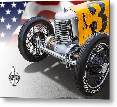 Miller 91 With Badge Metal Print