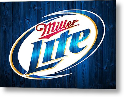 Miller Lite Barn Door Metal Print