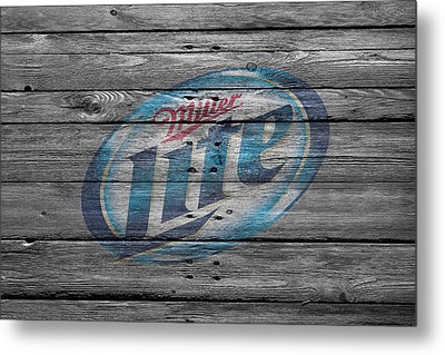 Miller Lite Metal Print by Joe Hamilton