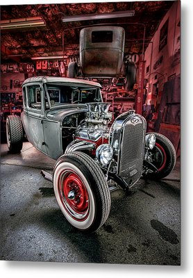 Millers Chop Shop 1931 Ford Coupe Metal Print by Yo Pedro