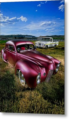 Millers Chop Shop 1940 Ford Coupe Metal Print