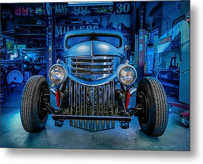 Millers Chop Shop 1946 Chevy Truck Metal Print by Yo Pedro