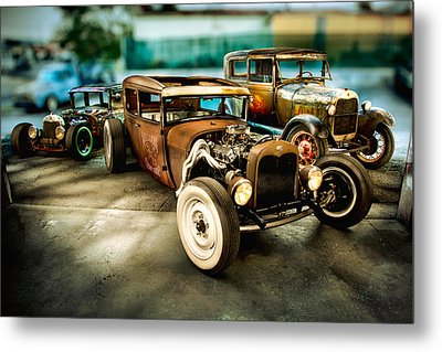 Millers Chop Shop Model A Sedans Metal Print