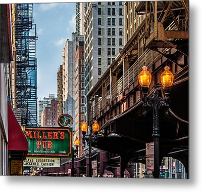 Metal Print featuring the photograph Miller's Pub  by James Howe