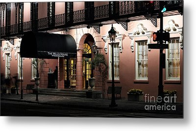 Mills House At Night Metal Print by John Rizzuto