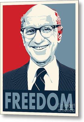 Milton Friedman Metal Print