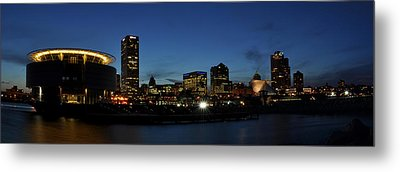 Metal Print featuring the photograph Milwaukee City Scape Panorama by Deborah Klubertanz