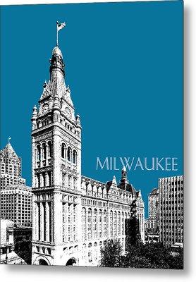 Milwaukee Skyline City Hall - Steel Metal Print