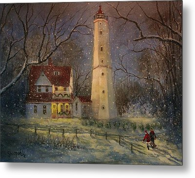 Milwaukee's North Point Lighthouse Metal Print by Tom Shropshire