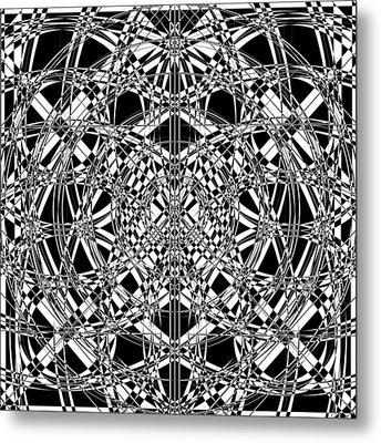 B W Sq 4 Metal Print